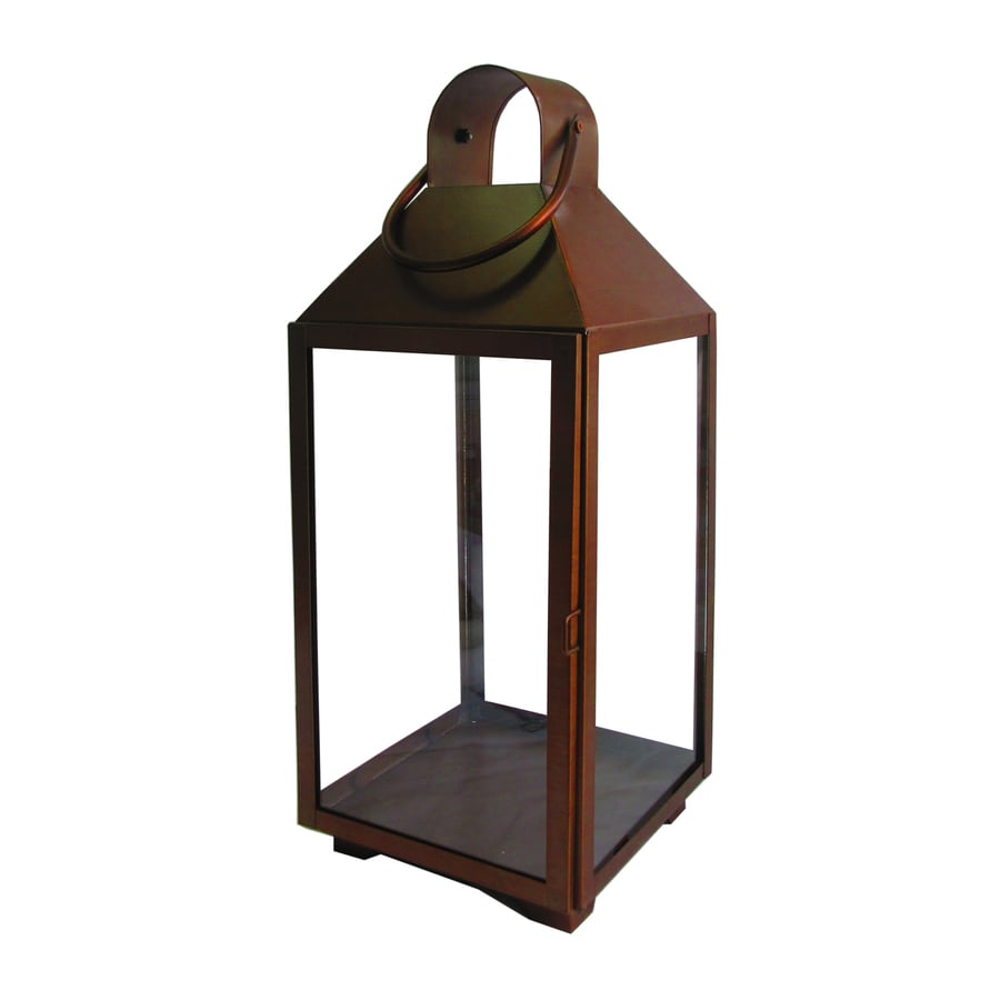 Shop allen roth x copper metal pillar for Unique outdoor lanterns