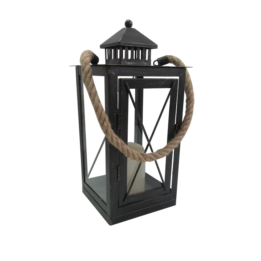 669in x 1377in orb metal led light outdoor decorative lantern - Outdoor Candle Lanterns