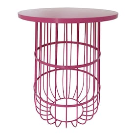 Pink Wire Plant Stand