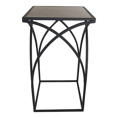 22-in Wood Color Indoor/Outdoor Square Ceramic Plant Stand