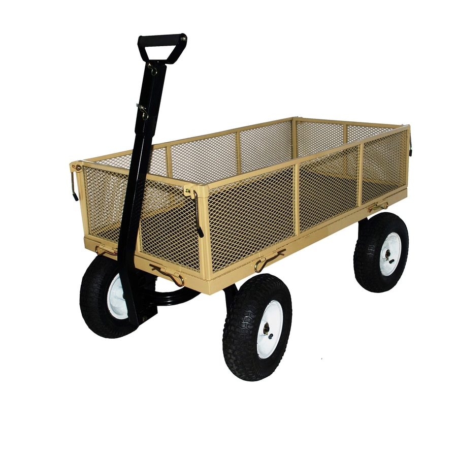Shop Blue Hawk 6 Cu Ft Steel Yard Cart At Lowes Com