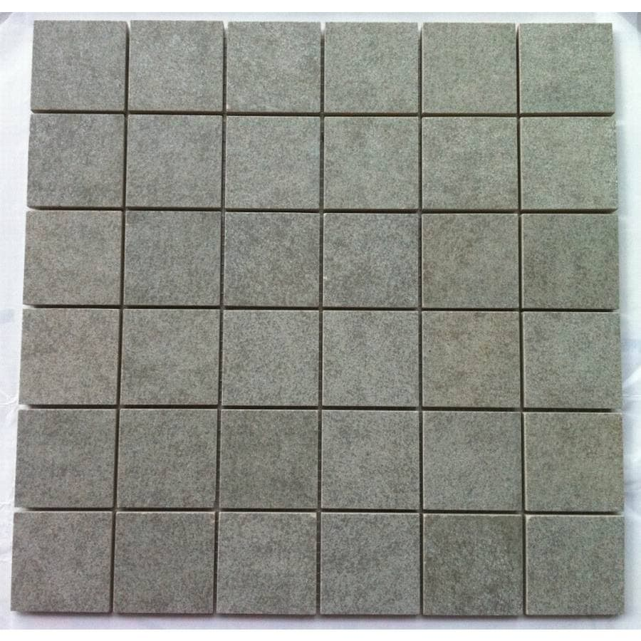 Shop style selections 12 in x 12 in ardena grey ardena ceramic style selections 12 in x 12 in ardena grey ardena ceramic mosaic floor tile dailygadgetfo Choice Image