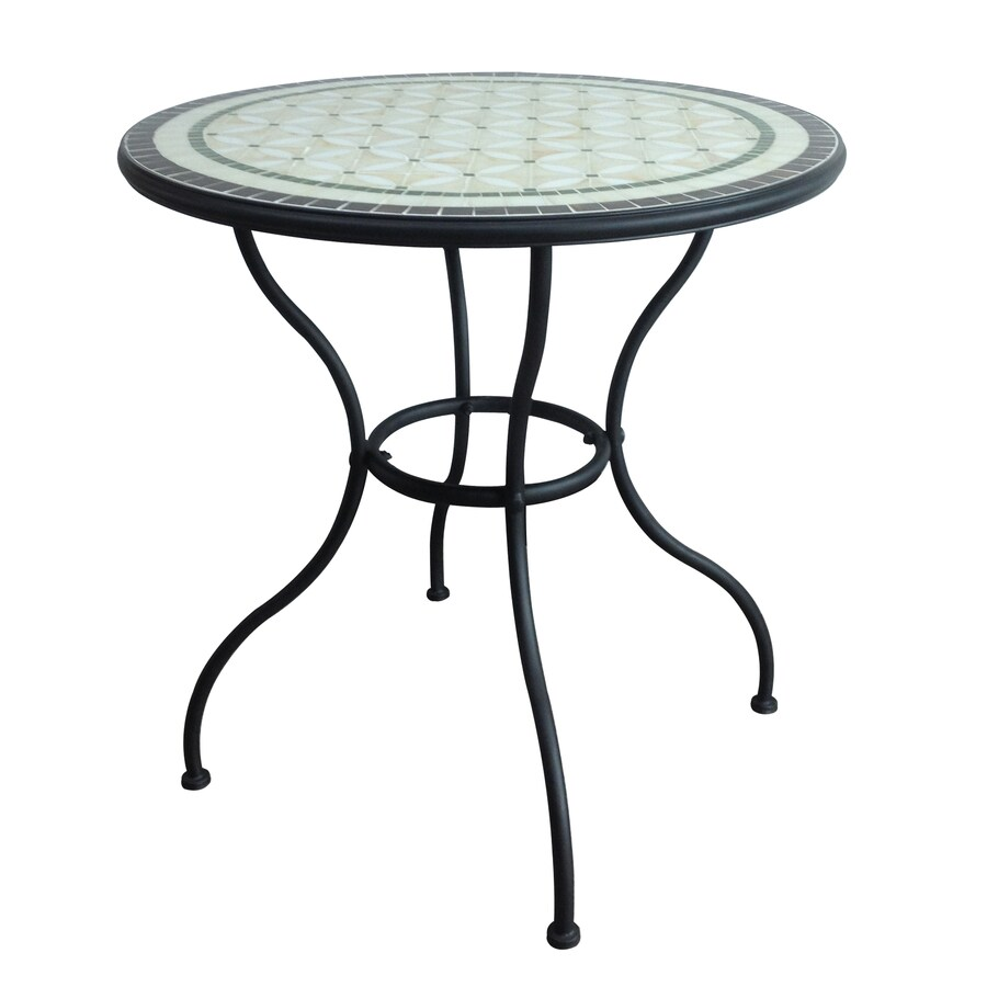 shop garden treasures pelham bay round dining table at lowes com