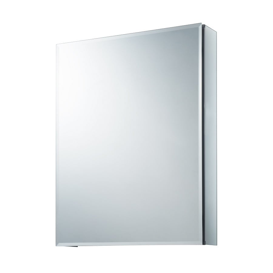 Allen + Roth 20 In X 26 In Rectangle Surface/Recessed Mirrored Aluminum Part 94