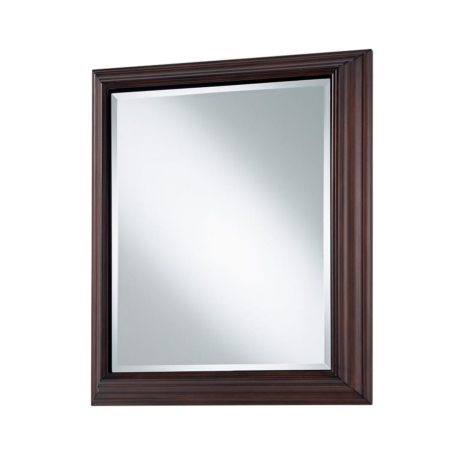 Style Selections 22 5 In X 27 Rectangle Surface Mirrored Wood Medicine Cabinet