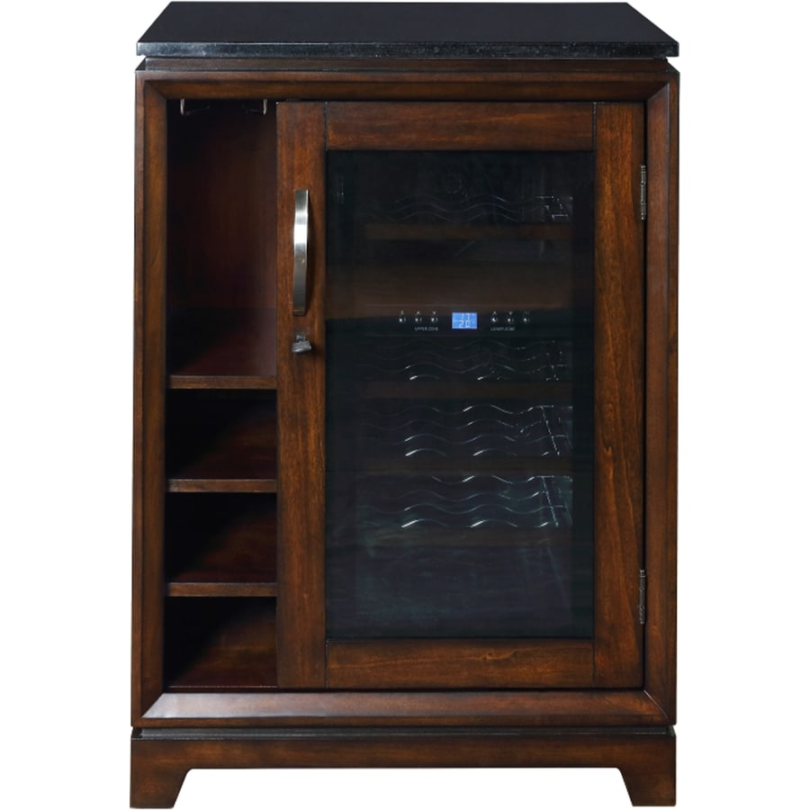 Scott Living 18 Bottle Capacity Autumn Mahogany Dual Zone Cooling Freestanding Wine Chiller