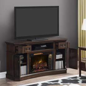 Scott Living 60 In W Walnut Infrared Quartz Electric