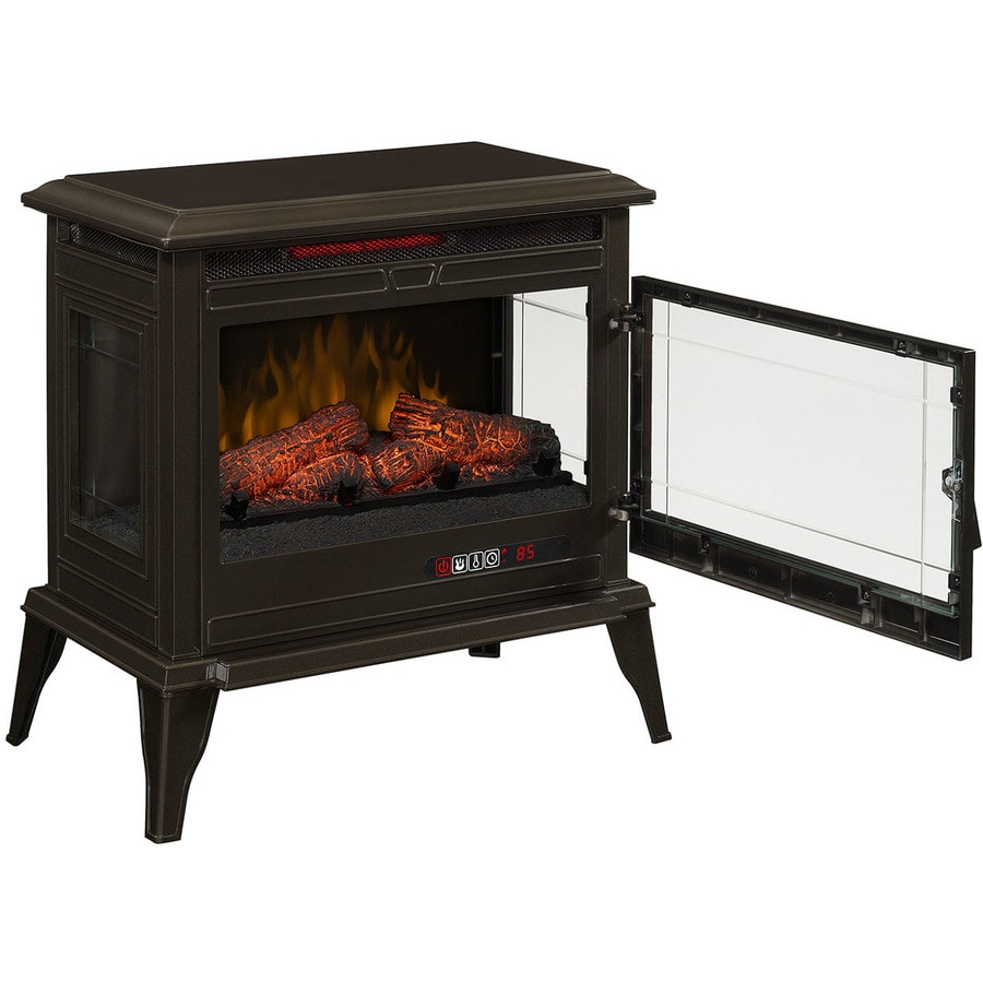 Mr. Heater 25-in W 5,200-BTU Bronze Metal Flat Wall Infrared Quartz Electric Stove with Thermostat and Remote