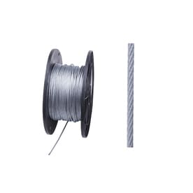f43bca763414 Blue Hawk 1-ft 1/8-in Weldless Galvanized Steel Cable (By