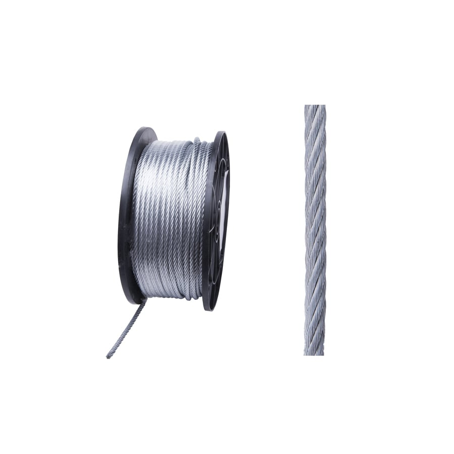 Blue Hawk 1-ft 3/16-in Weldless Galvanized Steel Cable (By-the-Foot)