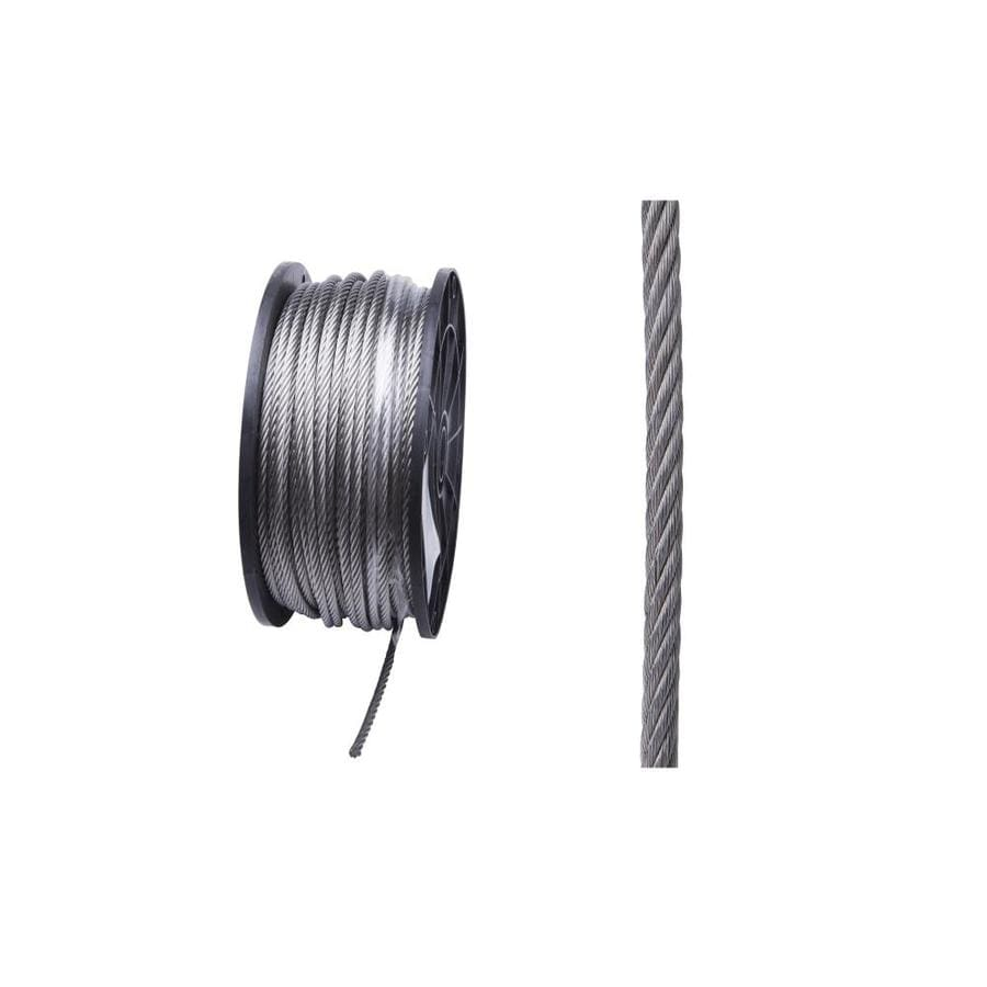 Blue Hawk 1 Ft. 3/16-in Weldless Polished Stainless Steel  Cable (By-The-Foot)