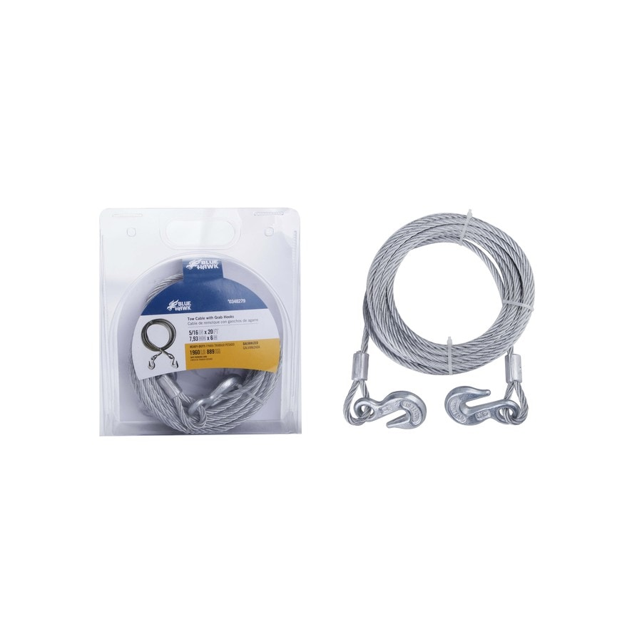 Blue Hawk 20-ft Weldless Galvanized Steel Cable