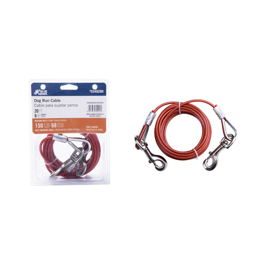 Blue Hawk 20-ft Weldless Galvanized-Red Vinyl Coated Steel Cable
