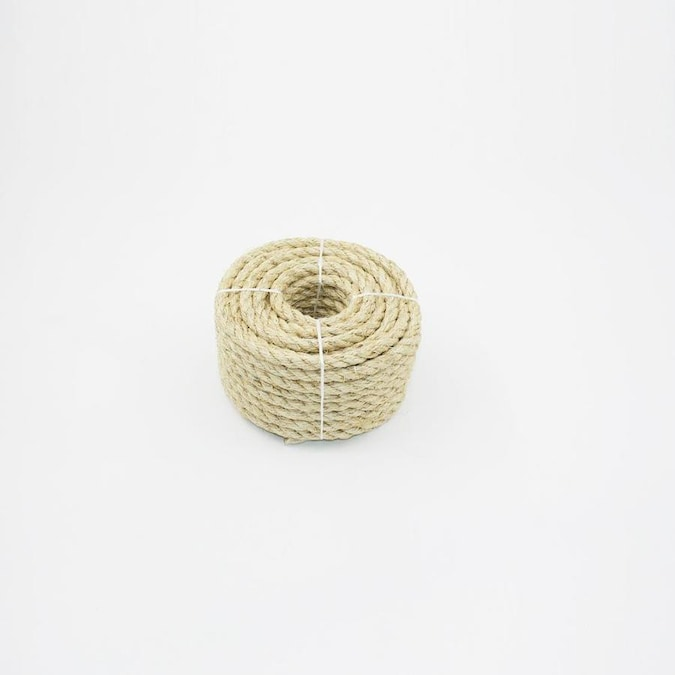 Blue Hawk 0 375 In X 50 Ft Twisted Sisal Rope By The Roll In The Rope By The Roll Department At Lowes Com
