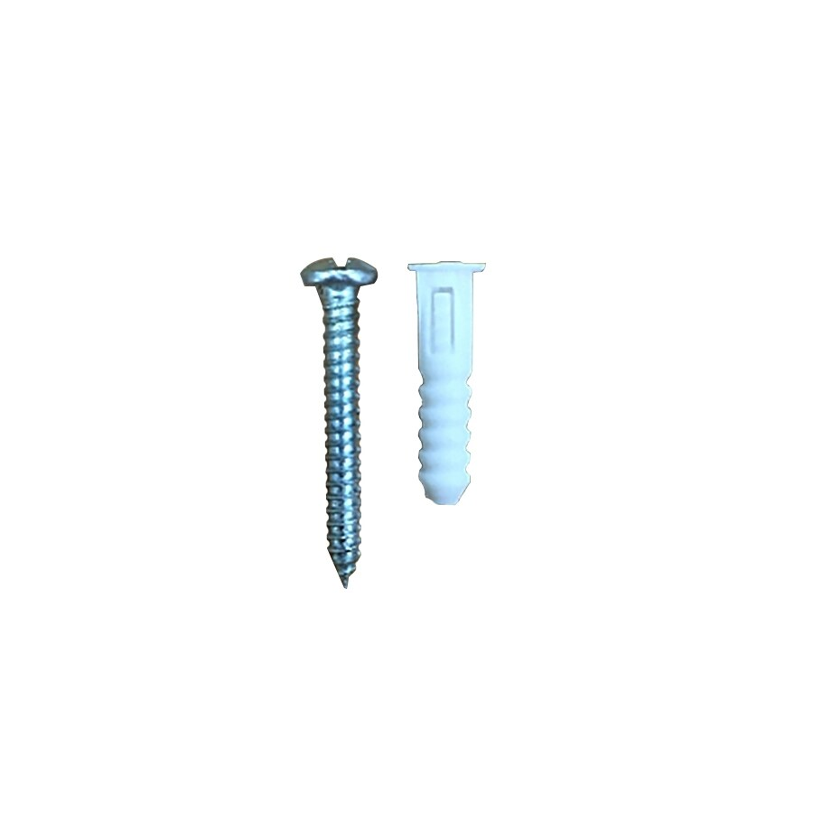 Blue Hawk 10-Pack 1-in x 0.218-in White Plastic Plastic Light-Duty All-Purpose Anchor Screws Included