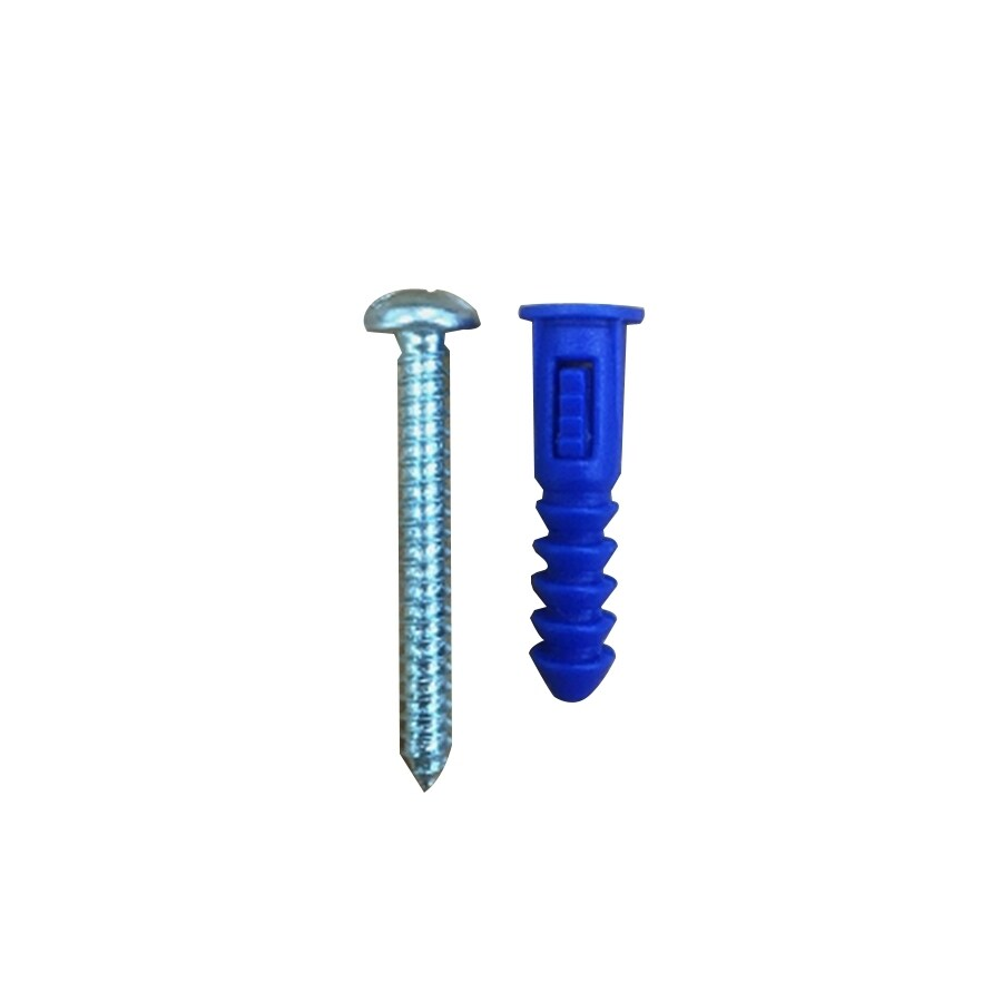 Blue Hawk 20-Pack 1.25-in x 0.277-in All-Purpose Anchors (Screws Included)