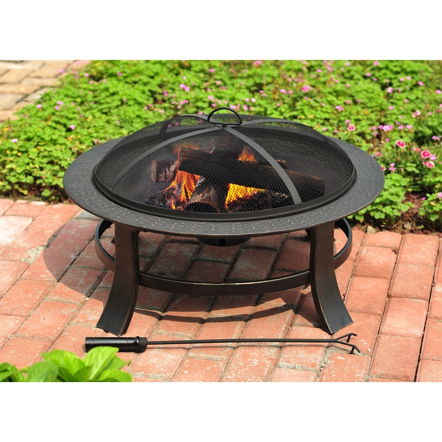 Genial Garden Treasures 30 In Matt Black Steel Wood Burning Fire Pit