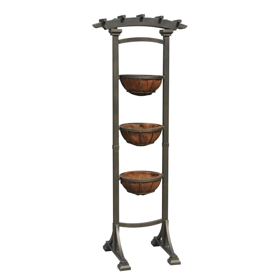 Shop Garden Treasures 72 in Coco Basket 3 Tier Plant Stand at