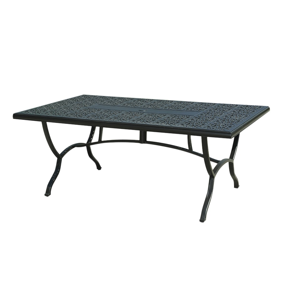 shop garden treasures belthorne black rectangle patio