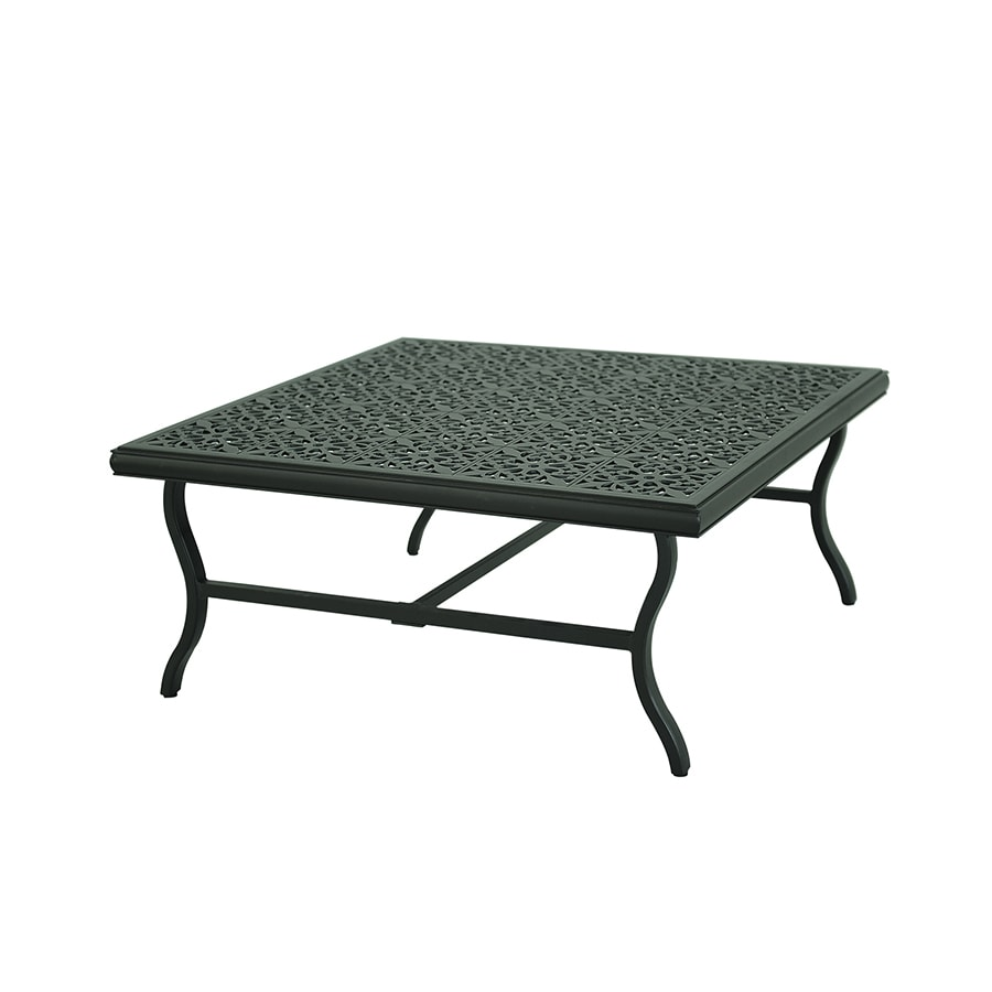 Garden Treasures Belthorne 41-in W x 41-in L Square Steel Coffee Table