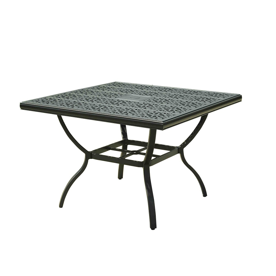 Garden Treasures Belthorne 42-in W x 42-in L Square Steel Dining Table