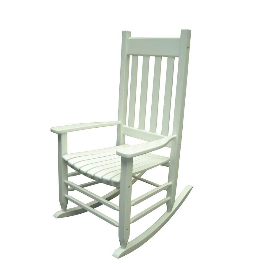 shop garden treasures white outdoor rocking chair at. Black Bedroom Furniture Sets. Home Design Ideas