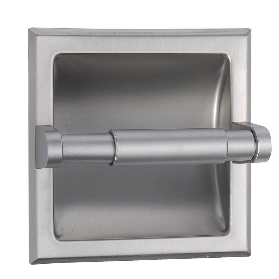 Style Selections Seton Brushed Nickel Recessed Toilet Paper Holder