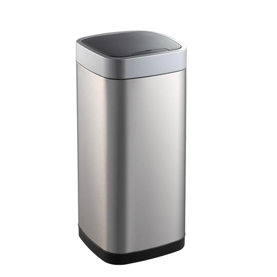 Eko 50 Liter Stainless Steel Metal Indoor Touchless Trash Can With Lid