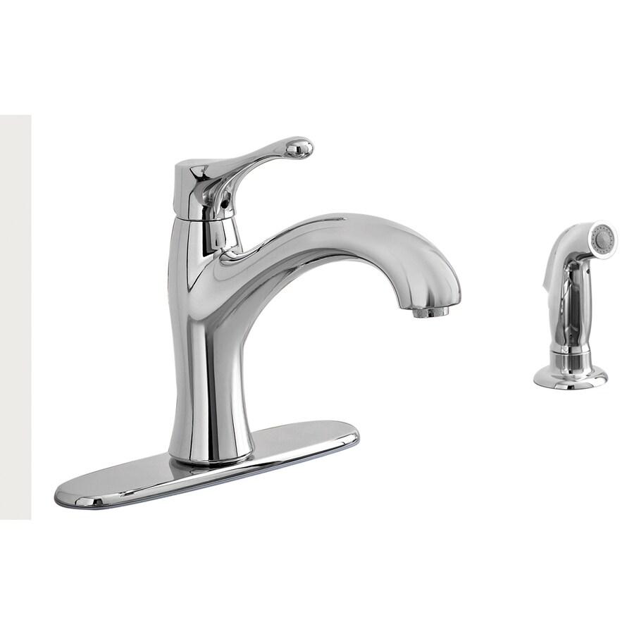 Aquasource Polished Chrome 1 Handle Low Arc Kitchen Faucet At