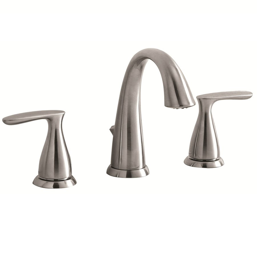 lowes faucets bathroom sink shop aquasource brushed nickel 2 handle watersense 19355