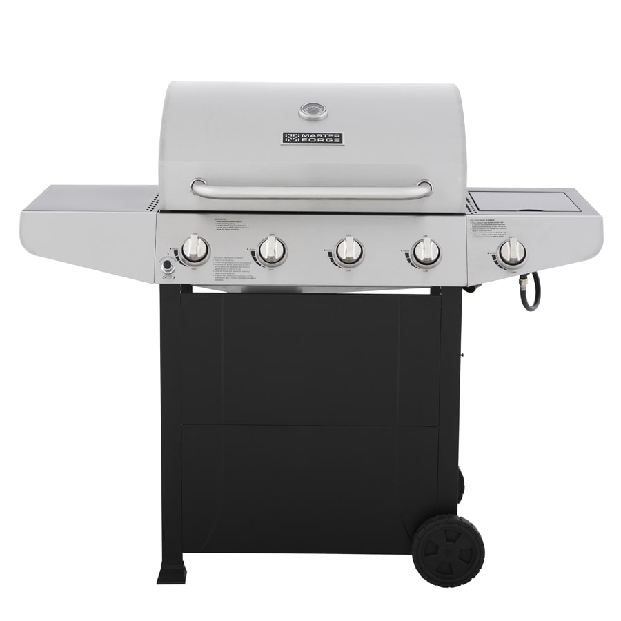 awesome Master Forge Grill Company Part - 2: Master Forge Black-Stainless Steel 4-Burner (40,000-BTU) Liquid Propane