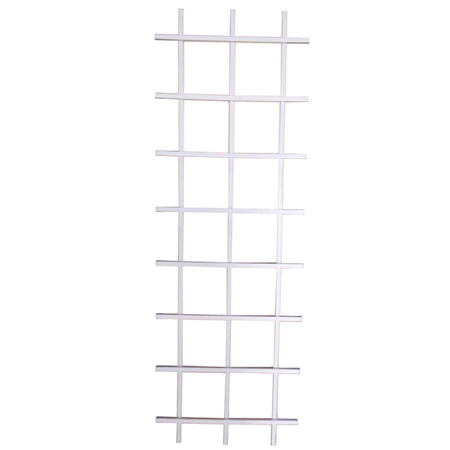 Shop Garden Treasures 24 in W x 72 in H White Garden Trellis at