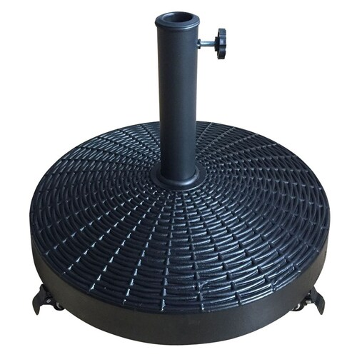 Style Selections Black Patio Umbrella Base At Lowes Com