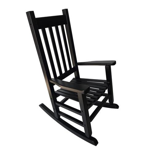 Style Selections Children 8216 S Black Wood Frame Rocking Chair S With Slat Seat In The Patio Chairs Department At Lowes Com