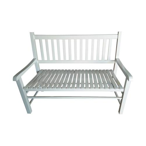Groovy Garden Treasures 24 8 In W X 50 In L White Patio Bench At Lowes Com Ibusinesslaw Wood Chair Design Ideas Ibusinesslaworg