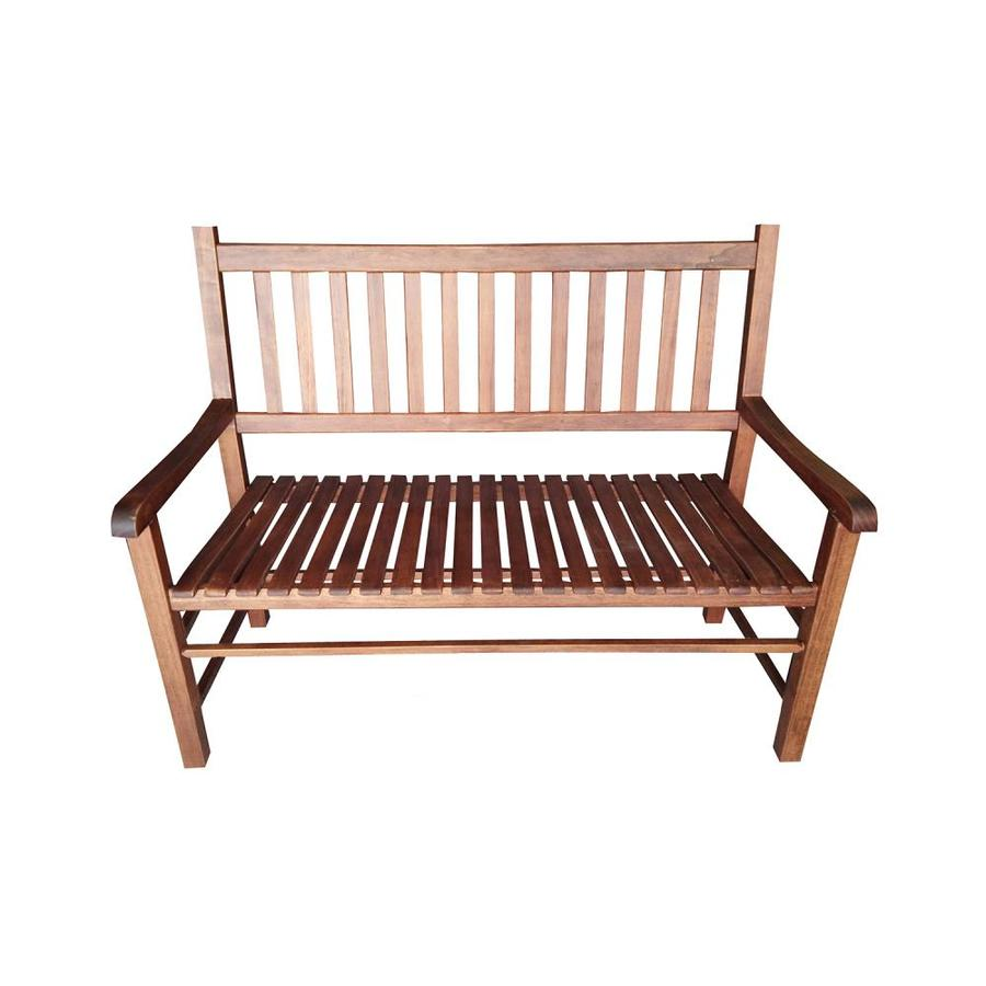 Garden Treasures 24 8 In W X 50 In L Natural Patio Bench