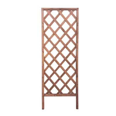 Garden Treasures 6 Ft Diamond Wood Trellis Brown At Lowes Com