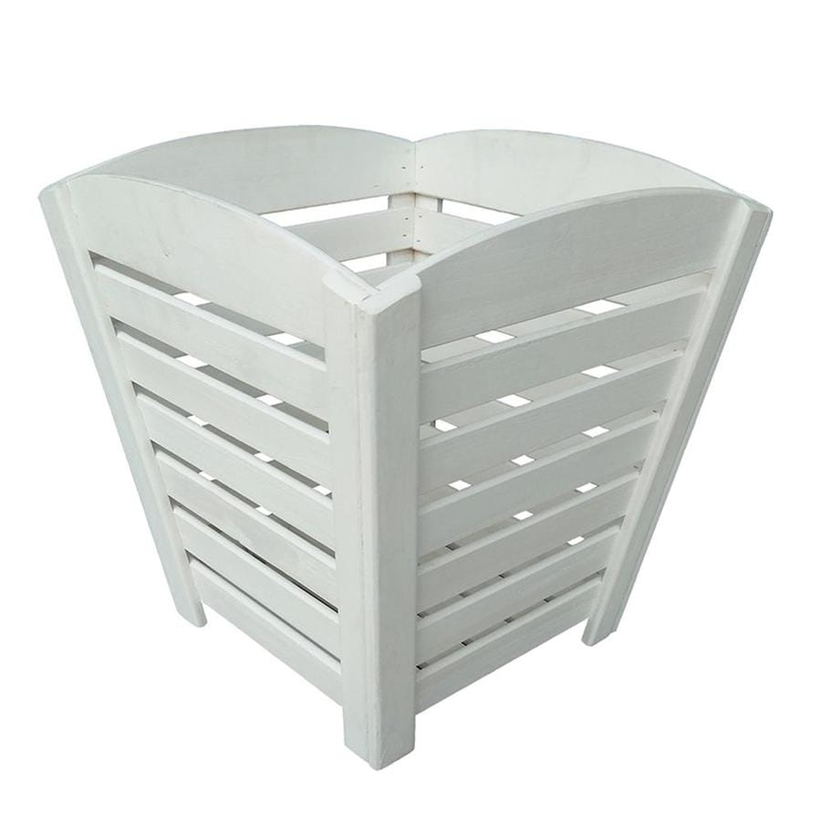 Shop 17.32-in W x 17.72-in H White Wood Planter at Lowes.com on lowes paving stones, lowes grass pavers, lowes grocery store, lowes corporate office, lowes bench seating, lowes columns, lowes porch rockers, lowes wreaths, lowes outdoor structures, lowes pots, lowes awnings, lowes potting soil, lowes promo code, lowes boxes, lowes outdoor spotlights, lowes fire places, lowes tillers, lowes lawn aerators, lowes decorative pavers, lowes deck kits,