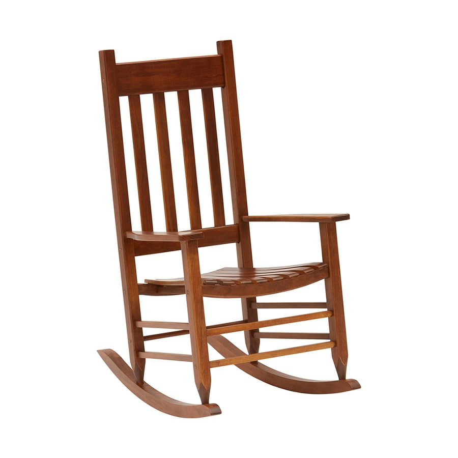 Shop Garden Treasures Acacia Rocking Chair With Slat Seat