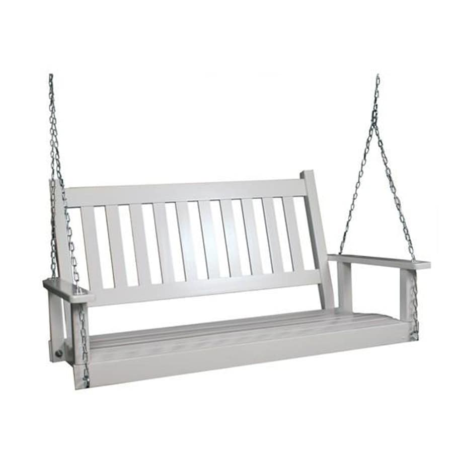Garden Treasures 2-Seat Wood Traditional Swing - Shop Porch Swings & Gliders At Lowes.com