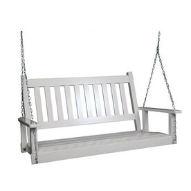 2 Seat Wood Traditional Swing