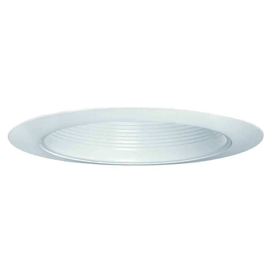 Shop recessed light trim at lowes utilitech white baffle recessed light trim fits housing diameter 6 in mozeypictures Images