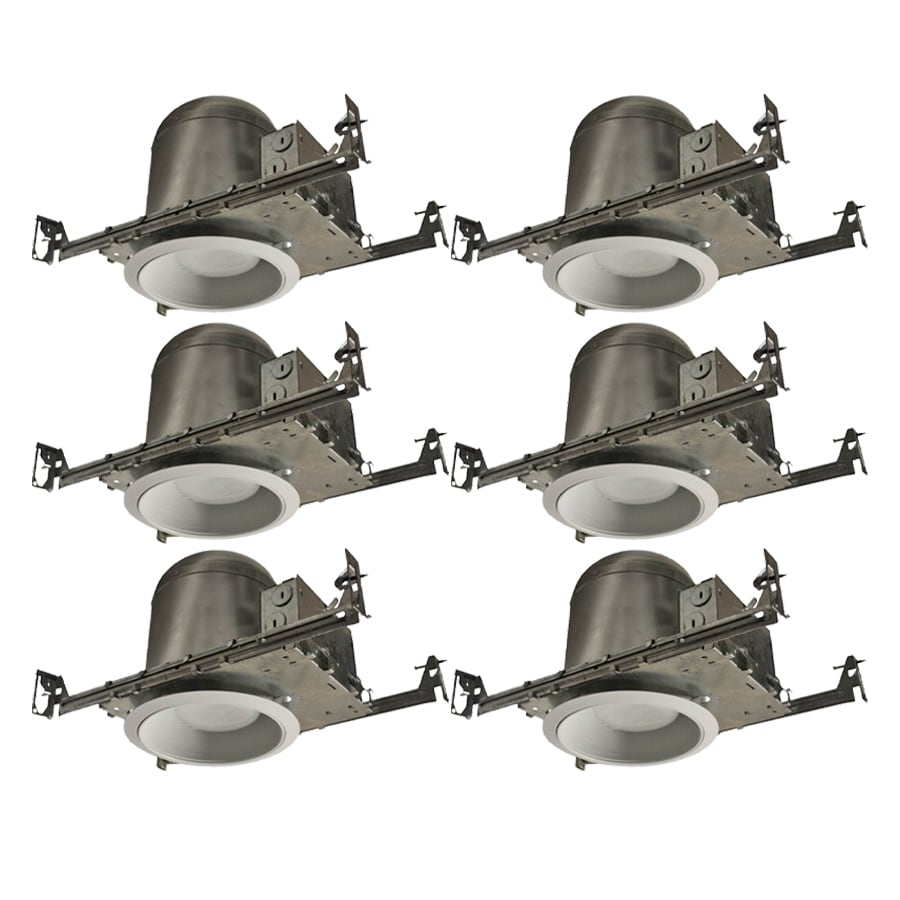 Utilitech Aluminum New Construction Recessed Light Kit Fits Opening 6 In