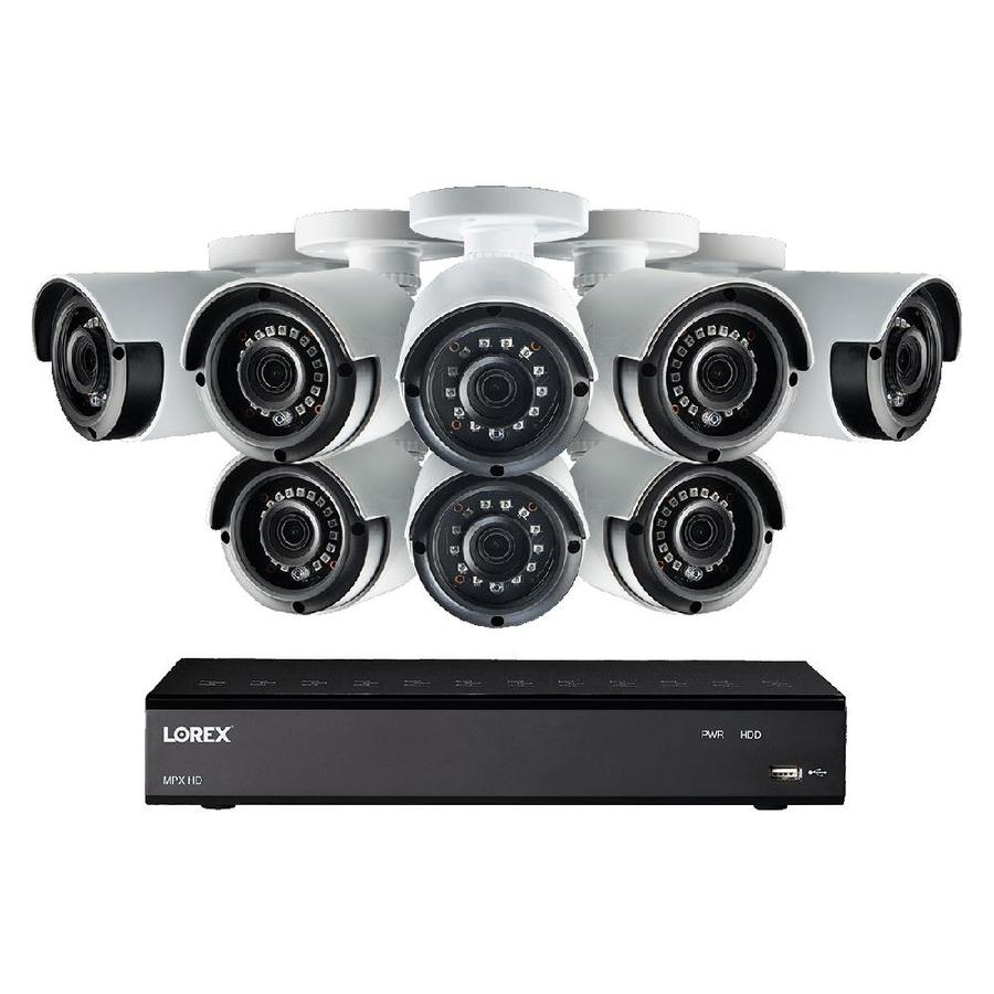 Lorex LHA21081TC8LC Analog Wired Outdoor 8-Pack Security Camera Kit