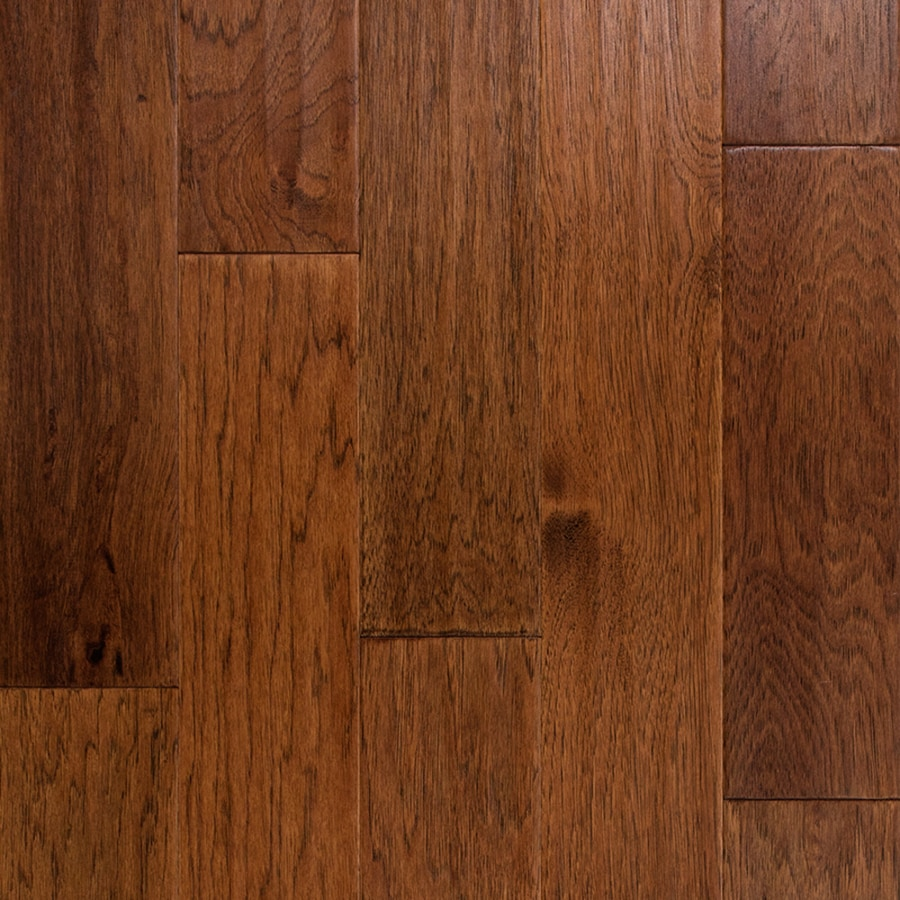 Shop style selections 5 in nutmeg hickory engineered for Hardwood flooring