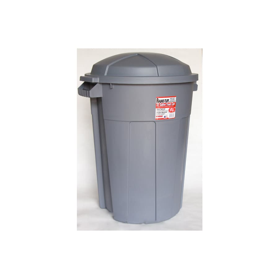 INCREDIBLE Plastics 35-Gallon Outdoor Trash Can