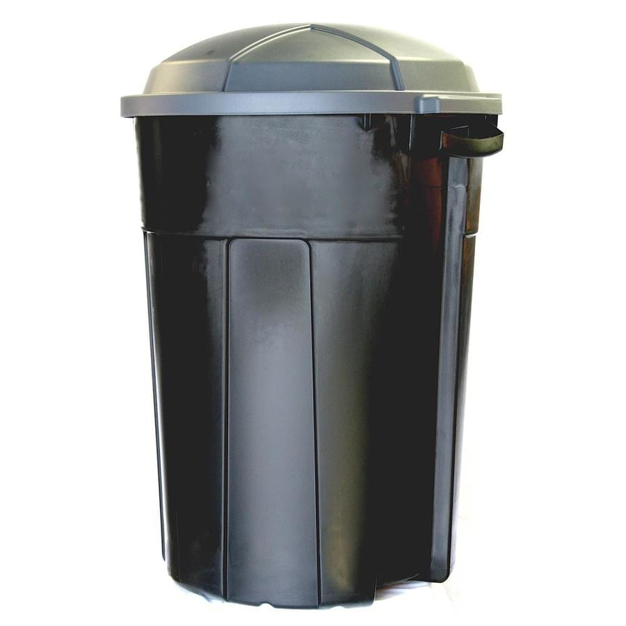 INCREDIBLE Plastics 26-Gallon Black Plastic Trash Can with Lid