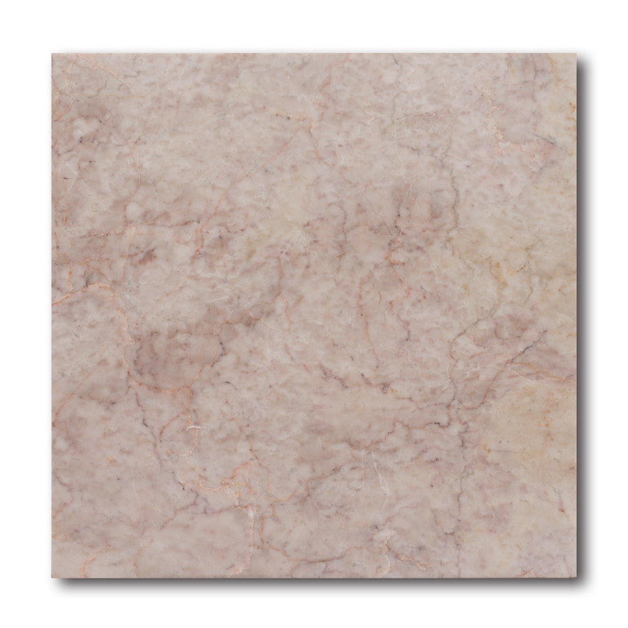 allen + roth 10-Pack Pink Natural Stone Marble Floor Tile (Common: 12-in x 12-in; Actual: 11.97-in x 11.97-in)