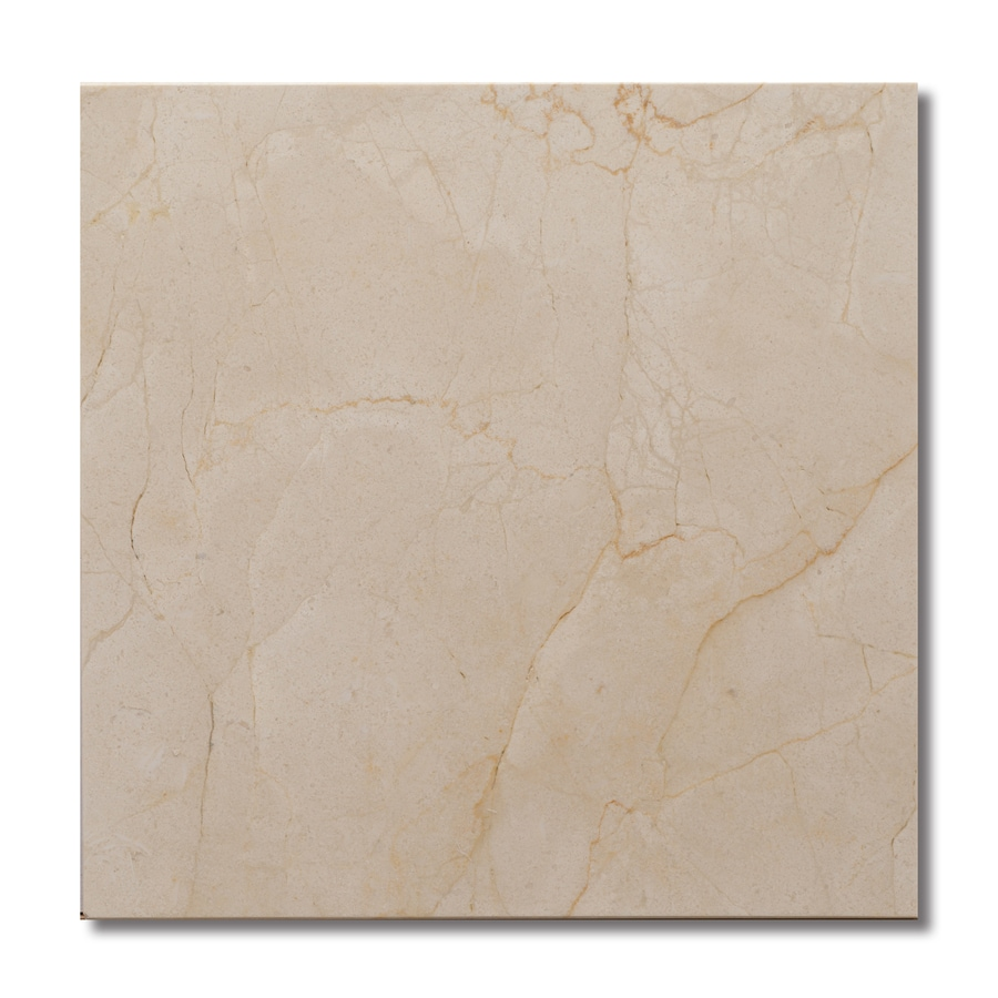 allen + roth Cream/Beige/Almond Natural Stone Marble Floor Tile (Common: 12-in x 12-in; Actual: 11.97-in x 11.97-in)