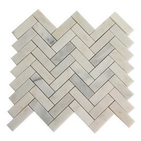 allen + roth Genuine stone White Marble Marble Mosaic Dimensional Floor Tile (Actual: 10.8-in x 12.4-in)